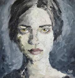 Woman Portrait (Oil painting) by Lu0ren