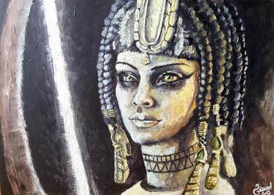 -SMITE- Neith Oil Painting by Lu0ren