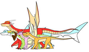Size comparison of Known World Dragonets