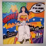 Wonder Woman Vespa Roma pop art