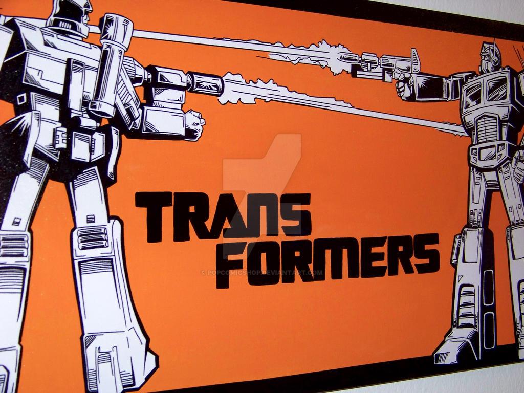 2 transformers optimus prime vs megatron 80s by - Transformers cartoon optimus prime vs megatron ...
