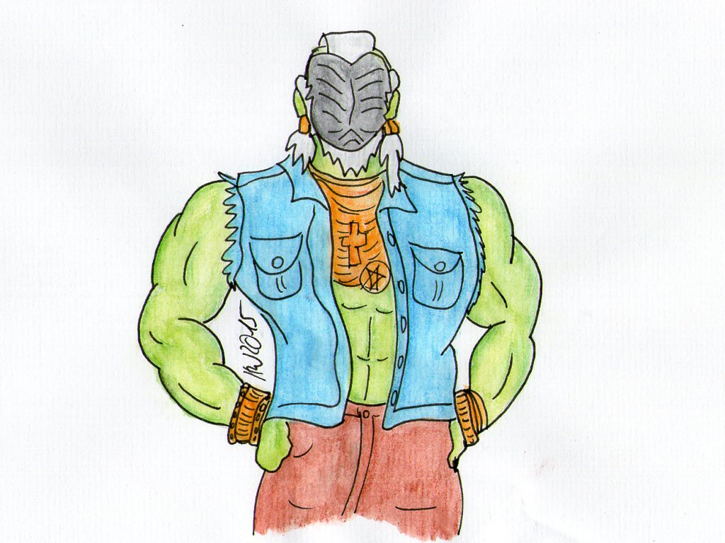 Mister T as Wraith drone by silverbullet72