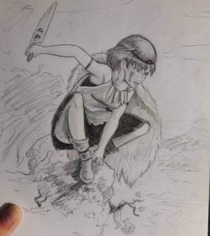 Inktober2019 day 05 : Mononoke Hime