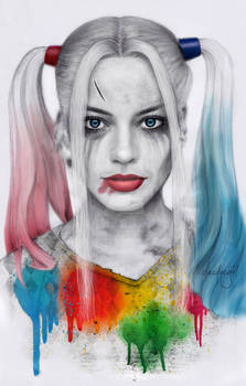 Harley Quinn pencil portrait
