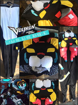 VOLTRON Black Lion Onesie