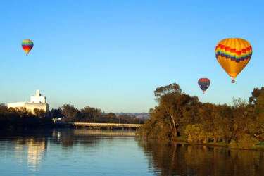 3 Hot Air Balloons And Silo