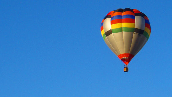 Hot Air Balloon Blue Sky 1080p