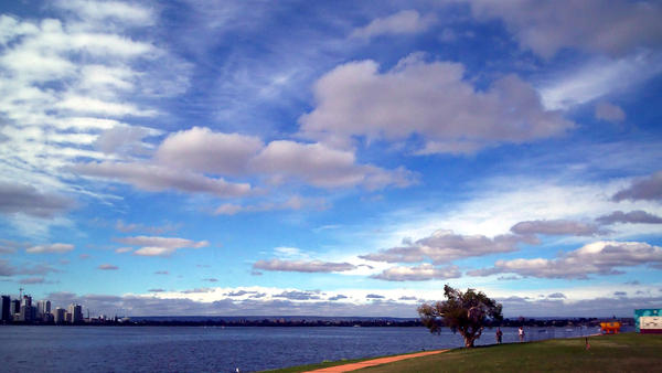 Clouds over Swan River
