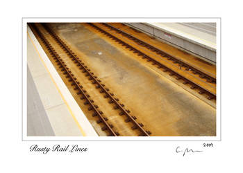 Rusty Rail Lines 5x7 signed