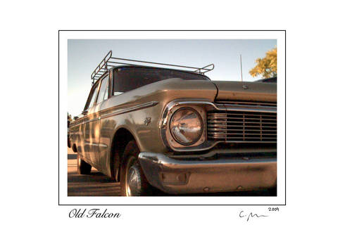 Old Falcon 5x7 card signed