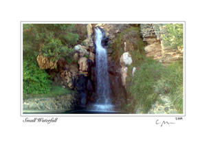 Small Waterfall 5x7card signed