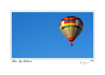 Blue Sky Balloon 5x7 card sig.