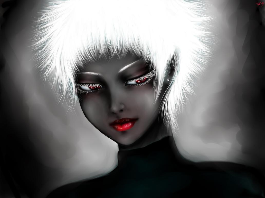 black albino by RiraR