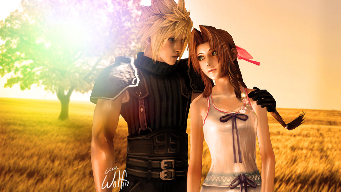Cloud and Aeris: Forever, with you. by LoneWolf117