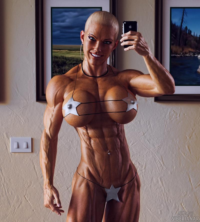 Fitness Girl Selfie by Siberianar on DeviantArt