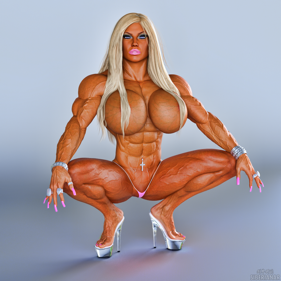 Topless muscle girl no breast implants 2 10