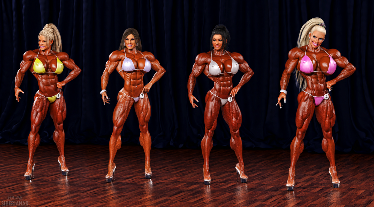 Bodybuilder girl women bodybuilding