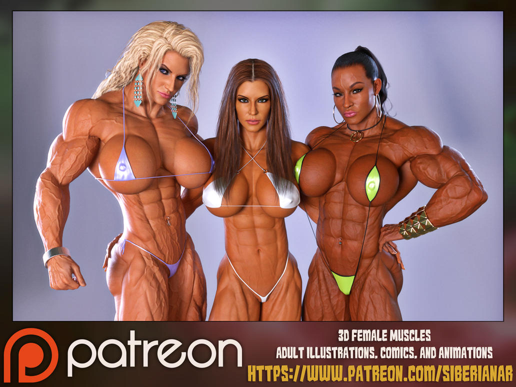 Amazon muscle women in 3d hentai image