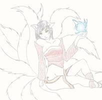 League of Legends: Ahri by phoenix132138
