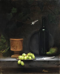 Green Grapes and Green Pear