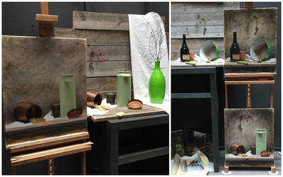 Processes of Still Lifes with Green Objects