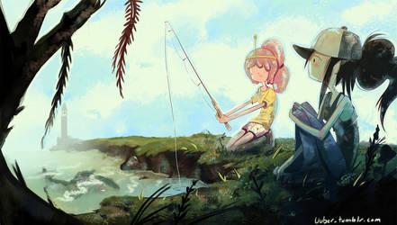 Marceline and PB fishing