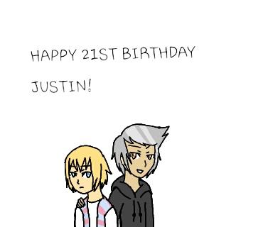 Happy birthday, Justin Chapman by Mayahzdog09