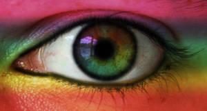 Rainbow eye by ClairutPhotography