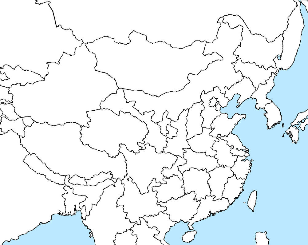 East Asia Map blank by Stephen-Fisher on DeviantArt