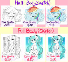 PONY SKETCH COMMISSIONS [OPEN] (PayPal)