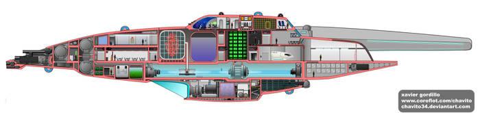 Clovis Class side cutaway by Chavito34