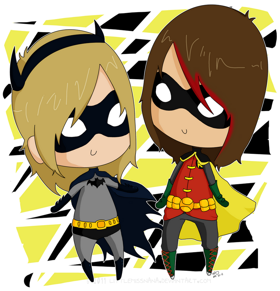 Gift: Batman and Robin by LittleMissNana