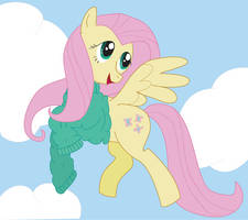 Fluttershy in a sweater by RogueLament