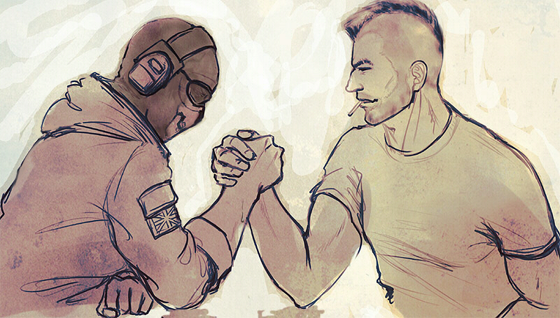 arm wrestling by ameij on deviantart