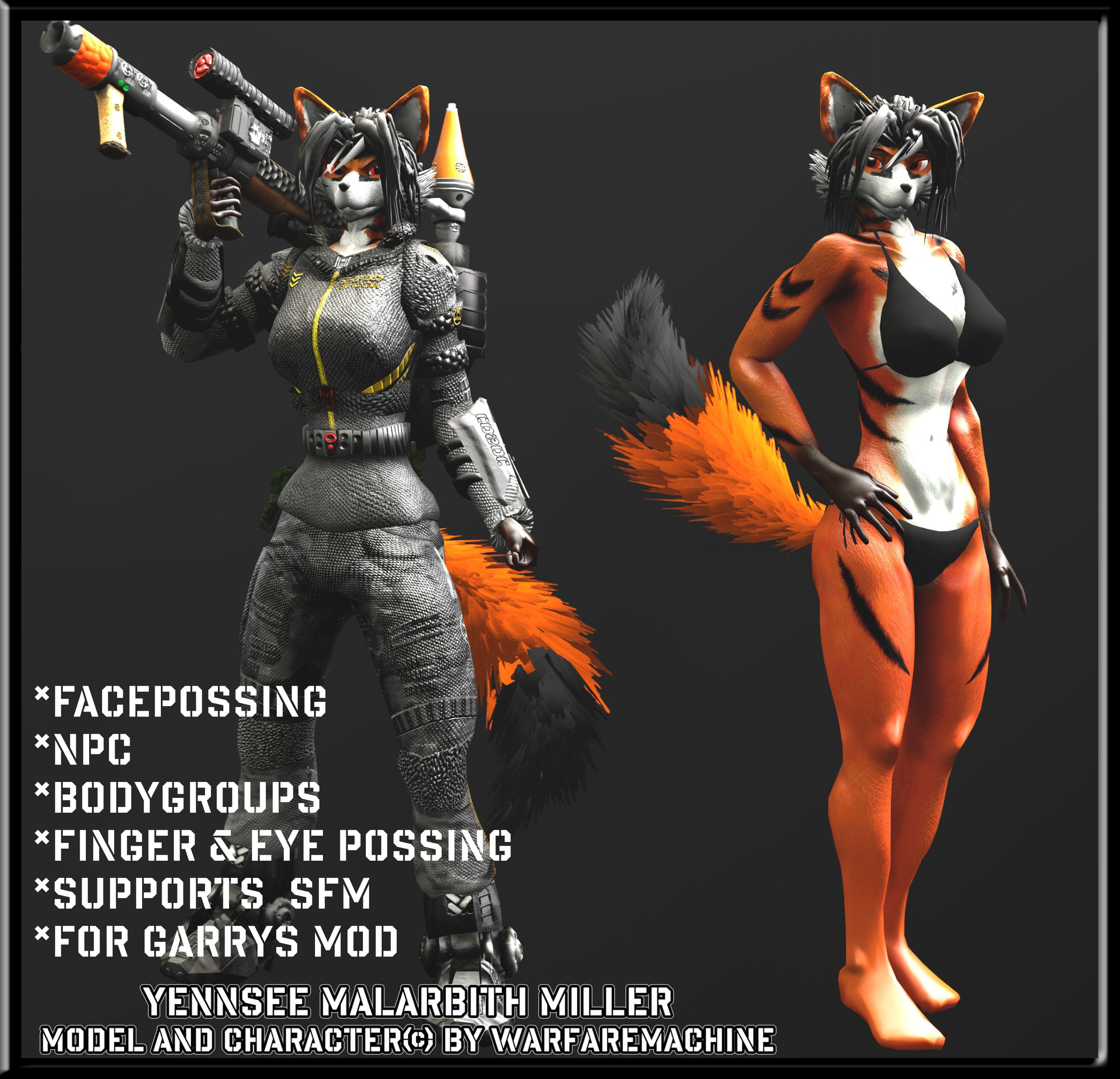 Furry Gmod-SFM Model Download -Yennsee Miller By