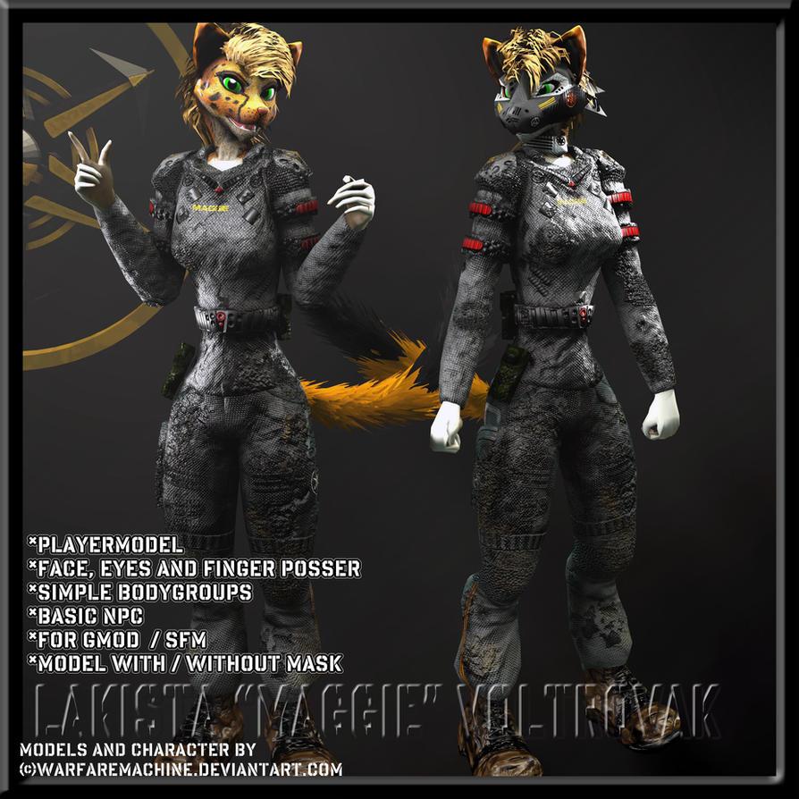 Furry Gmod-SFM Model Download -Maggie Voltrovak- By