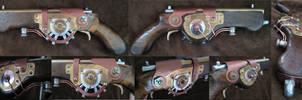 Steampunk cyberpunk gun 3. by boriatushiski