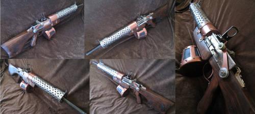 Steampunk machinegun by boriatushiski