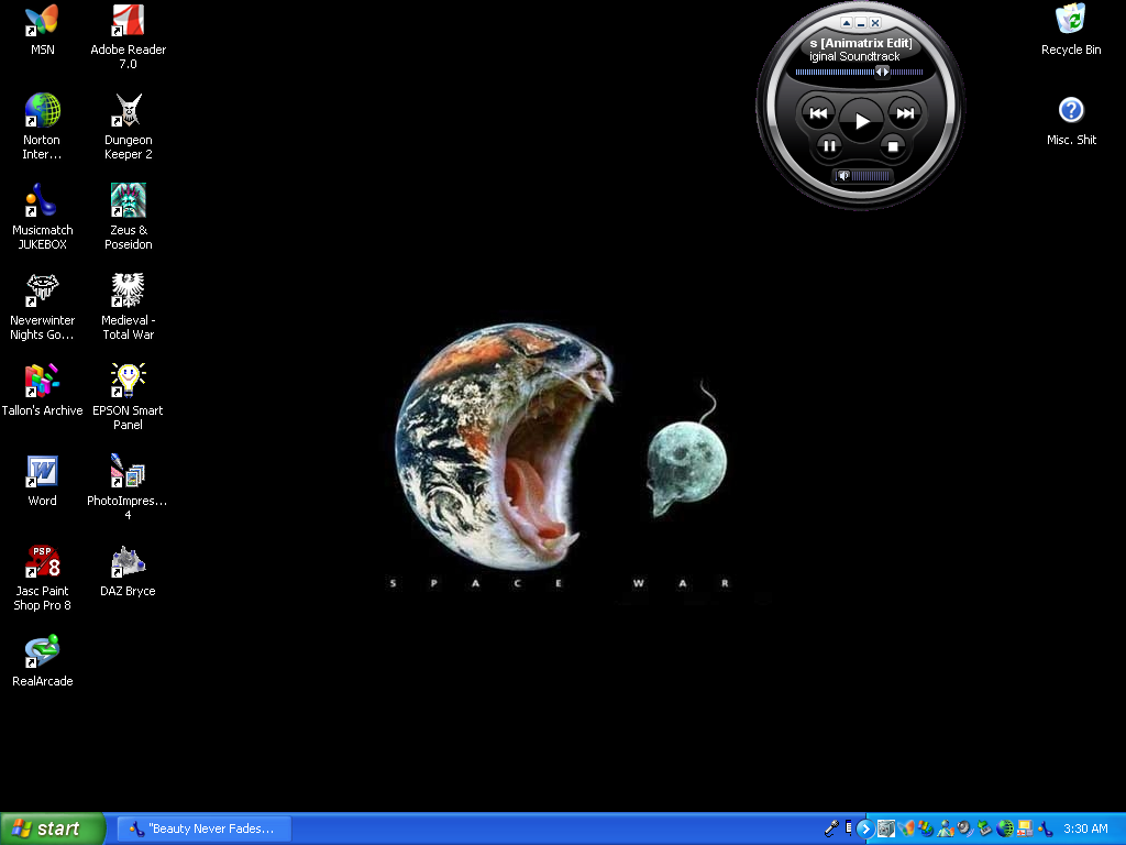 Current desktop...