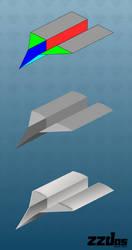 Paper plane process (Inkscape - vector) by ZZDas
