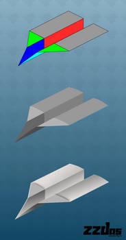 Paper plane process (Inkscape - vector)