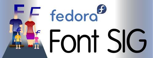 Fedora Font SIG banner
