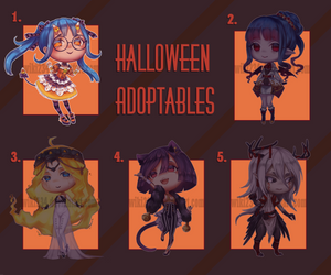 [CLOSED] Halloween Adopts by Wiki234