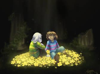 Undertale - Among the Flowers by alyssafew