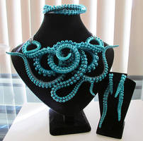 Turquoise Tentacle Set by KTOctopus