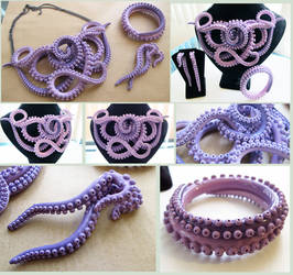 Violet Tentacle Set by KTOctopus