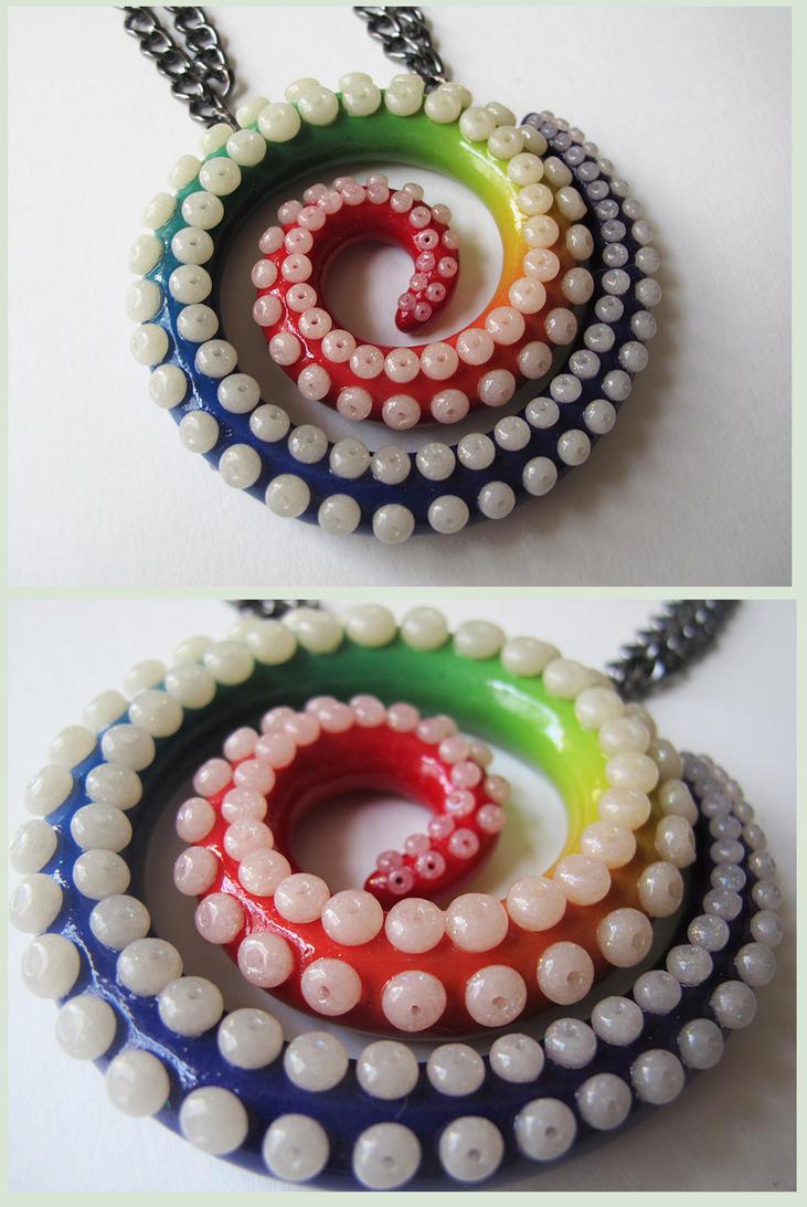 Rainbow Swirl Tentacle by KTOctopus