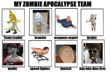 The Zombie Apocalypse Meme But Ironically Memed