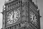 Hyperrealism. Big Ben pencil drawing ...Half time.