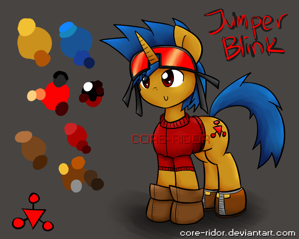 [MLP OC] Jumper Blink (Reference Sheet) by CoRe-Ridor